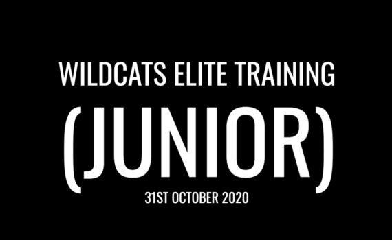 Elite Training Camp – Juniors (31/10/20)